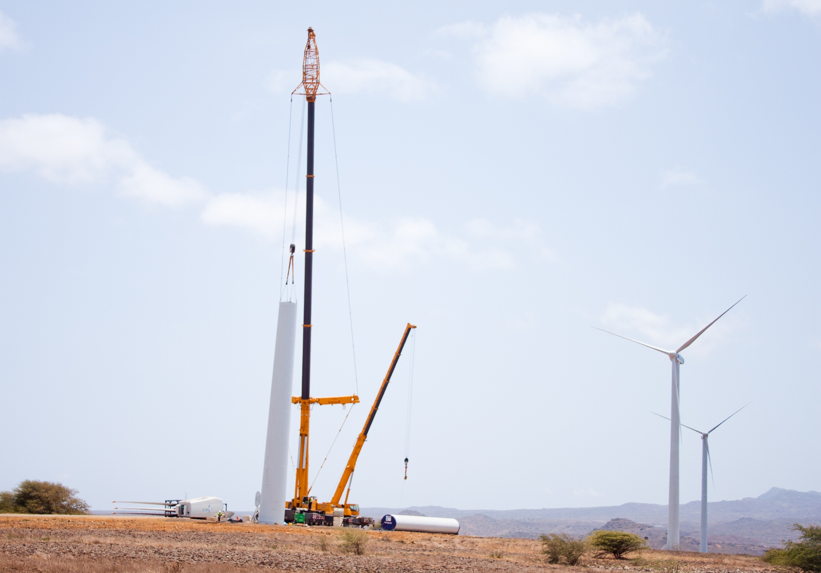 Fully operational by the end of the year, the four onshore wind farms will add over 28 megawatts  of electricity to the local energy supply and ease Cape Verde's reliance on imported fossil fuels. Copyright: InfraCo.
