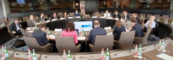 First meeting of the EIB's Economists Advisory Group.