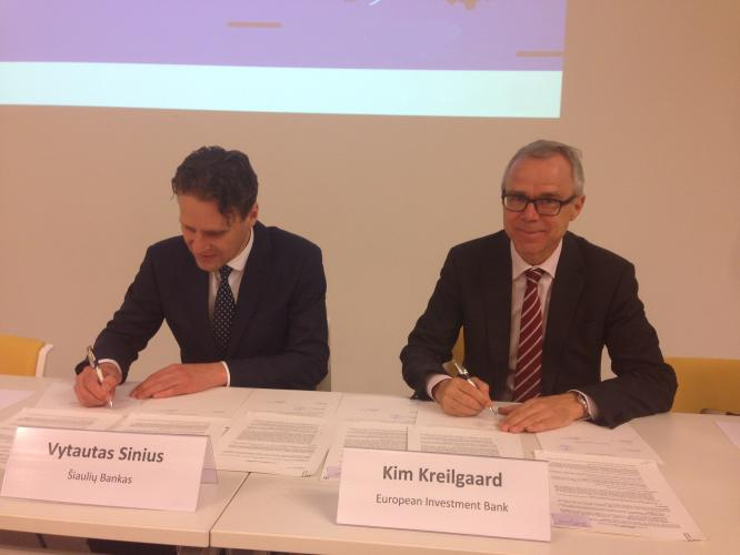 EIB and Šiaulių bankas renew support for urban renewal in Lithuania.