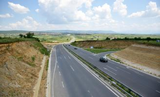 On the road in Kosovo