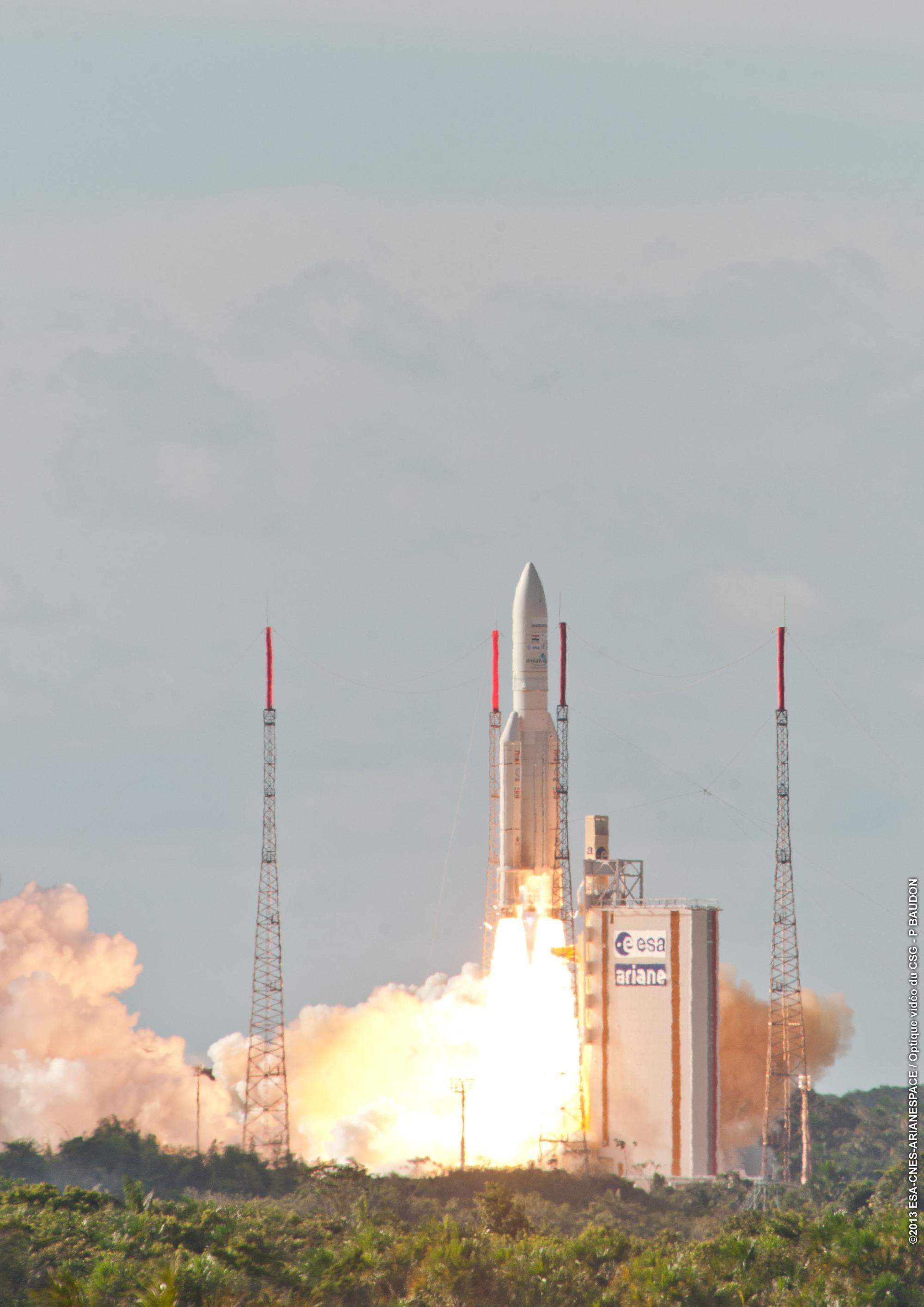 >@Photo credit « Service Optique CSG » « ESA - CNES - ARIANESPACE »
