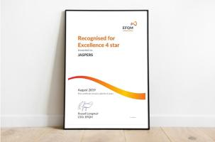 'Recognised for Excellence' certificate, JASPERS