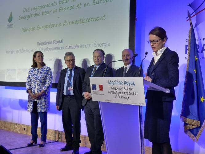 Ségolène Royal announces EUR 1bn of new EIB loans in support of energy transition in France